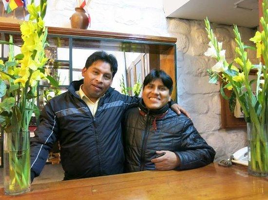 Royal Inti Cusco : Wilbert y Jose - love working at Royal Inti