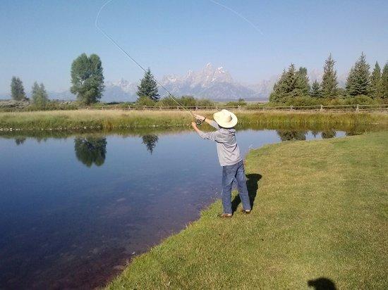 Moose Head Ranch: Here fishy fishy!