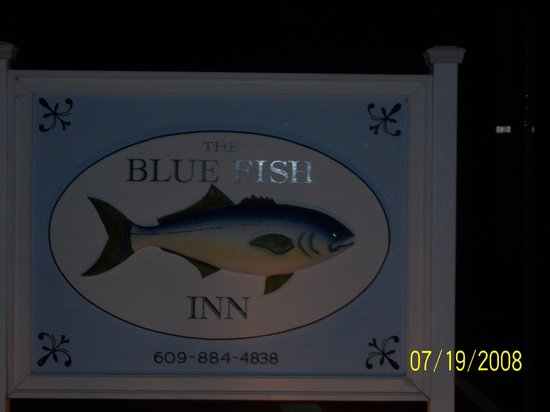 Blue Fish Inn: Sign at night