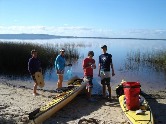 Kanu Kapers Australia Noosa Everglades Kayak Day Tours: Ready to set off on our kayaking expedition