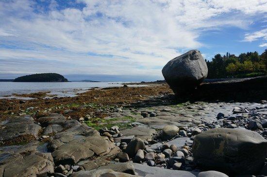 Shore Path: balance rock