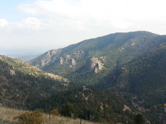 Mount Falcon Park: View of mountains by hwy 285