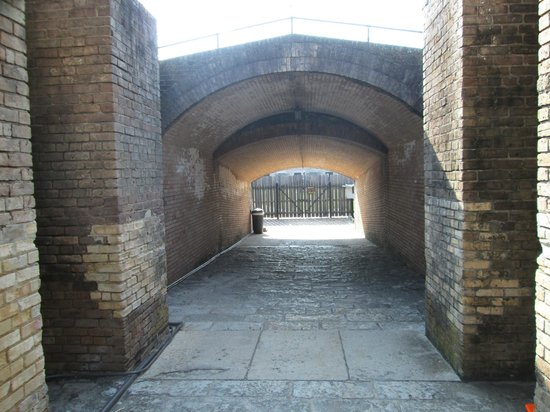 Fort Gaines: inside of fort