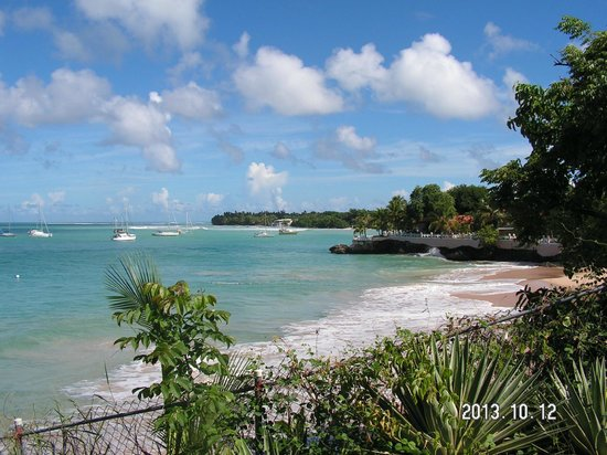 Johnston Apartments: View of store bay from room balcony