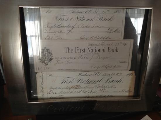 Central House Inn: Original statements signed by George H. Rockefeller.