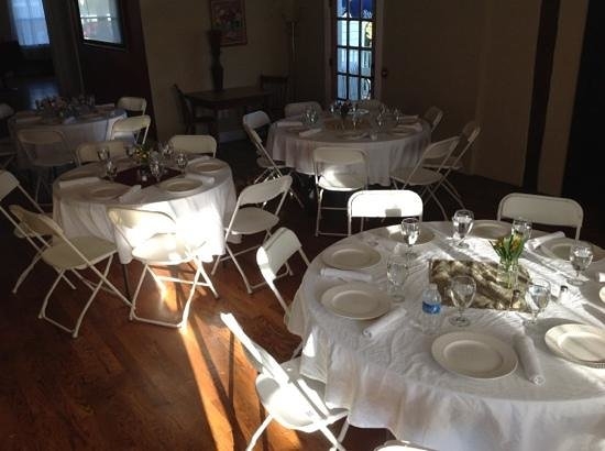 Central House Inn: The inn has a banquit room for gatherings with food served.