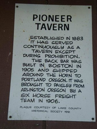 Pioneer Saloon And Restaurant: Historical facts