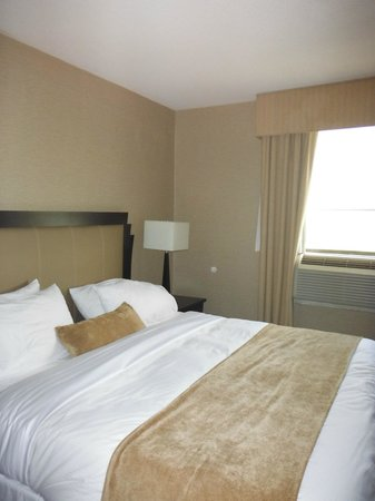 Ramada Plaza Toronto Downtown: bedroom with city/park view
