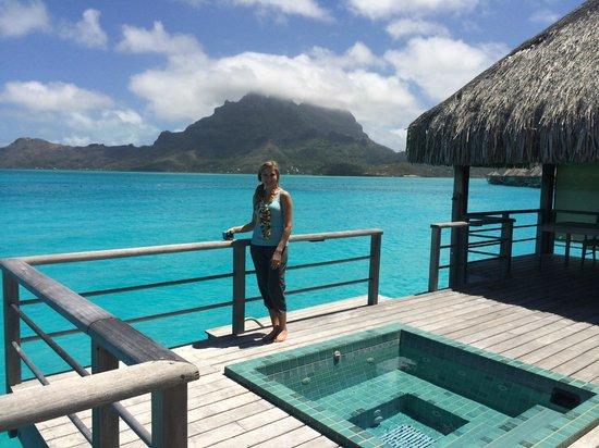 The St. Regis Bora Bora Resort: our premium OWB view of island
