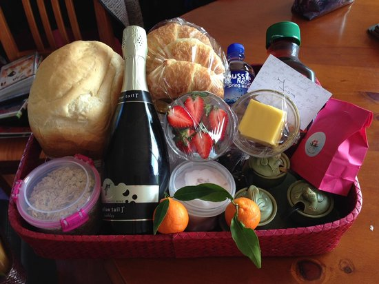 The Lotus Day Spa And Retreat: One of the two breakfast baskets received each day
