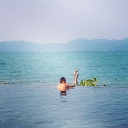 Saree Samui : very nice view from infinity pool