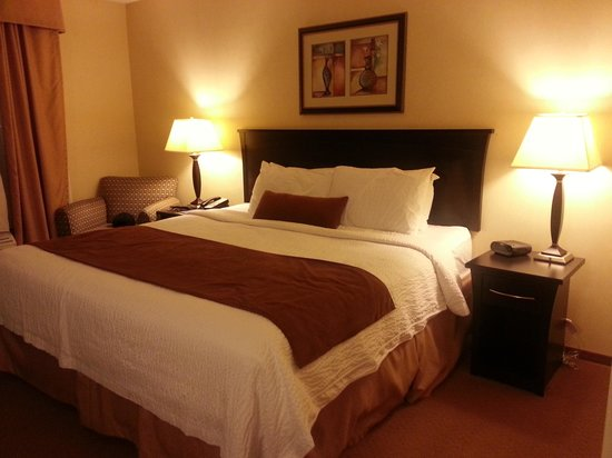 Fairfield Inn & Suites Kelowna : King size bed
