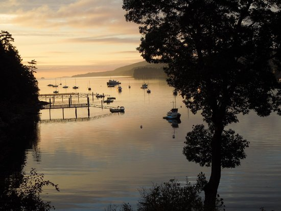 Hastings House Country House Hotel: Sunrise at Ganges Harbor