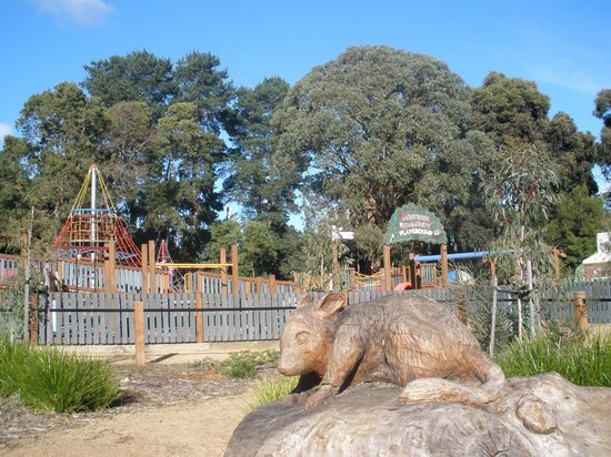 Montrose, Australia: Possum sculpture in the sensory garden