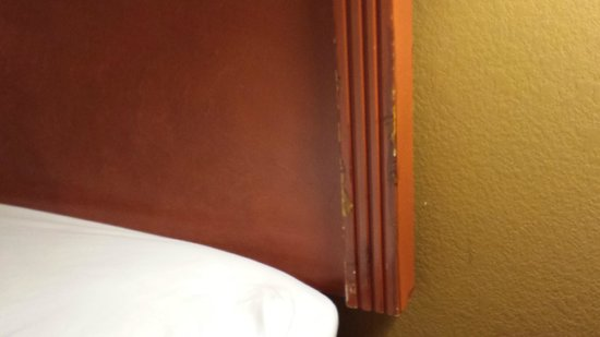 Hampton Inn Philadelphia-International Airport: Crappy headboard 1