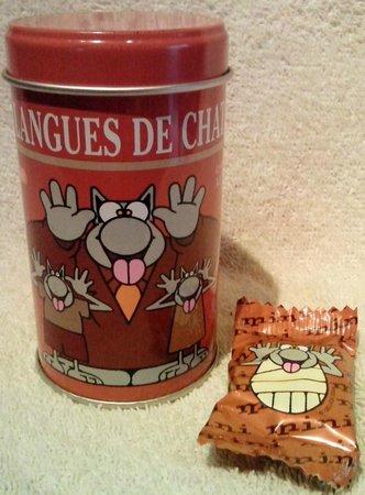 Galler Chocolatier : lenguas de gato con leche en lata pequeña