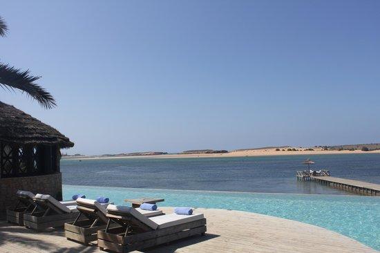 La Sultana Oualidia: Piscina Exterios vistas a la Laguna