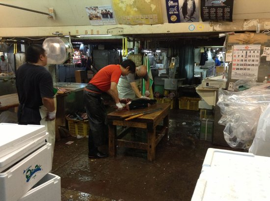 Sawing the tuna, The Tsukiji Market