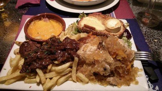 La Guinguette de la Marine : L'assiette gourmande : 3 spécialités de la région