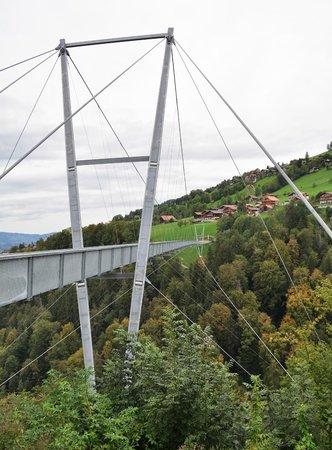 Hotel Adler: Hängebrücke in Sigriswil