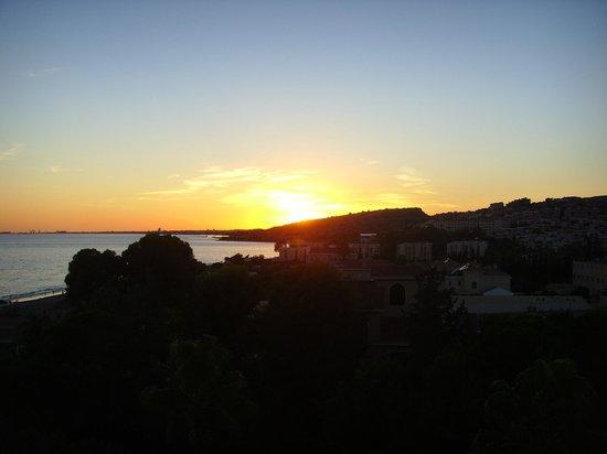 Elias Beach Hotel: sunset from balcony