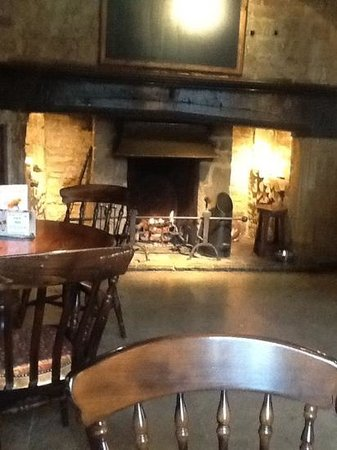 the open fire at The White Hart Royal Hotel - perfect on a Sunday afternoon