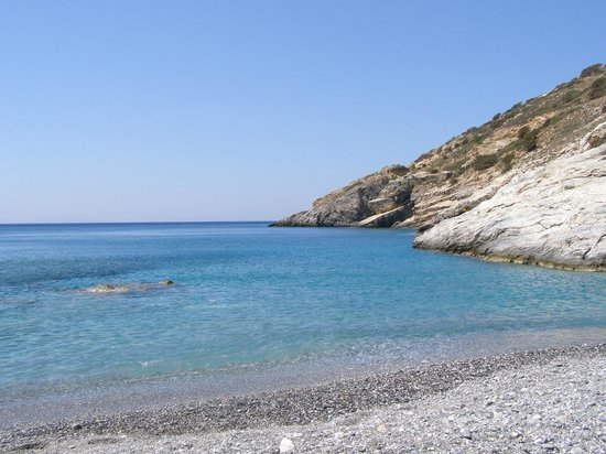 Mourou beach with blue water