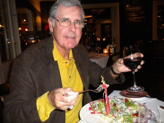Loetje Gorssel: Enjoying his dinner