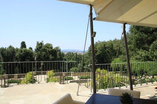 Il Salviatino: Vista dalla terrazza del ristorante
