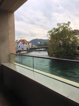 Limmathof Baden Hotel & Spa : view from balcony