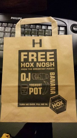 The Hoxton, Shoreditch : The breakfast bag