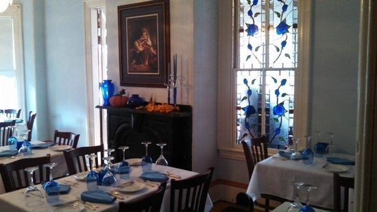 The Blue Rose Inn & Restaurant : Second Dining Room With Blue Rose Stained Glass Window