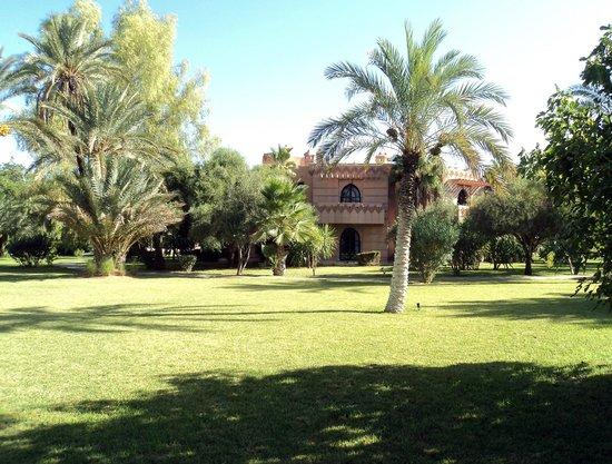 Villa Al Assala: les chambres, vues du parc