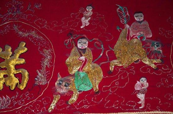 Sun Yat Sen's Residence Memorial Museum: Beautiful artwork on the walls