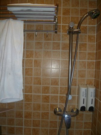 Golden Crown Guesthouse: very clean towels provided and nice shower