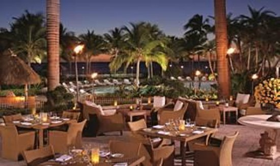 Cioppino at the Ritz-Carlton Key Biscayne: Cioppino's patio overlooks the Ritz pool and Ocean