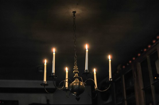 The Old Inn on the Green: The only light in the dining room