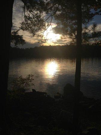 Point Sebago: sunset