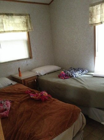 Point Sebago: second bedroom in park home, two twins