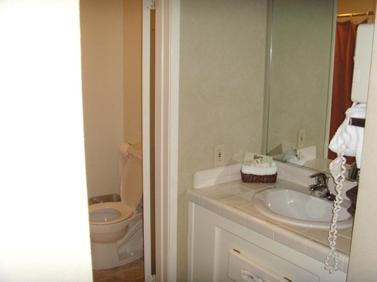 Cambria Pines Lodge: Sink area