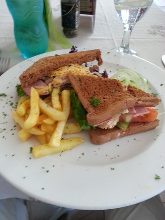 Madeira Restaurant : Chef's sandwhich - $7 with a side salad.