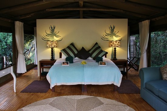 Sibuya Game Reserve-River Camp: River Camp tent