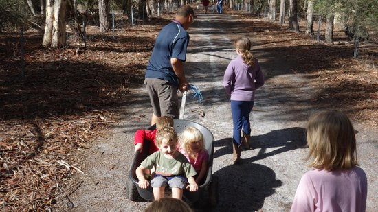 Margaret River Hideaway & Farmstay: Vinnie giving the younger kids a ride