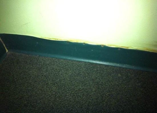 Best Western Ft. Walton Beachfront: trying to patch up the trim in room 616