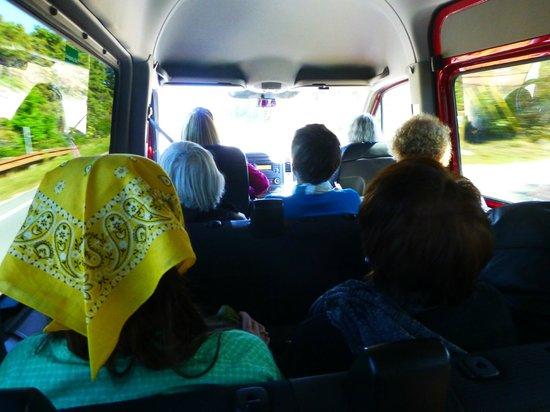 Gail's Tours of Nantucket: sitting in the cramped van