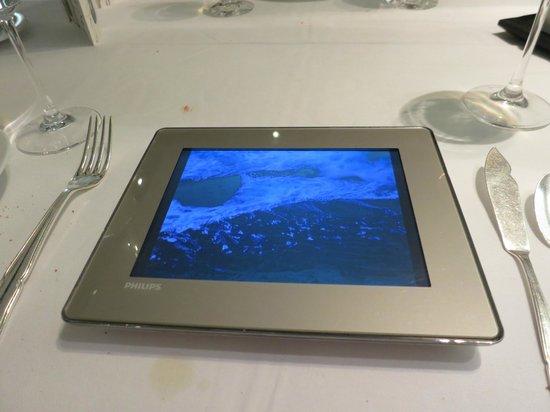 Arzak: Wave video with sound beneath fish course