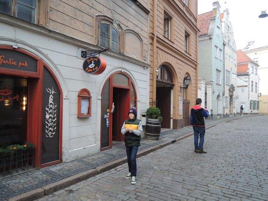 Kiploku Krogs: вход в кафе