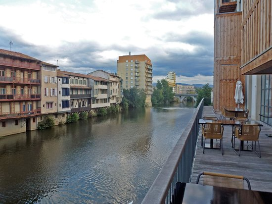 Grand Hotel de Castres: View from restaurant terrace