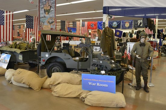 Southwest Florida Military Museum & Library: War room.