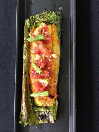 Suay Restaurant: Spicy sea bass in banana leaf